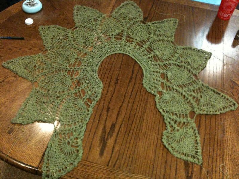 Pinapple lace crochet