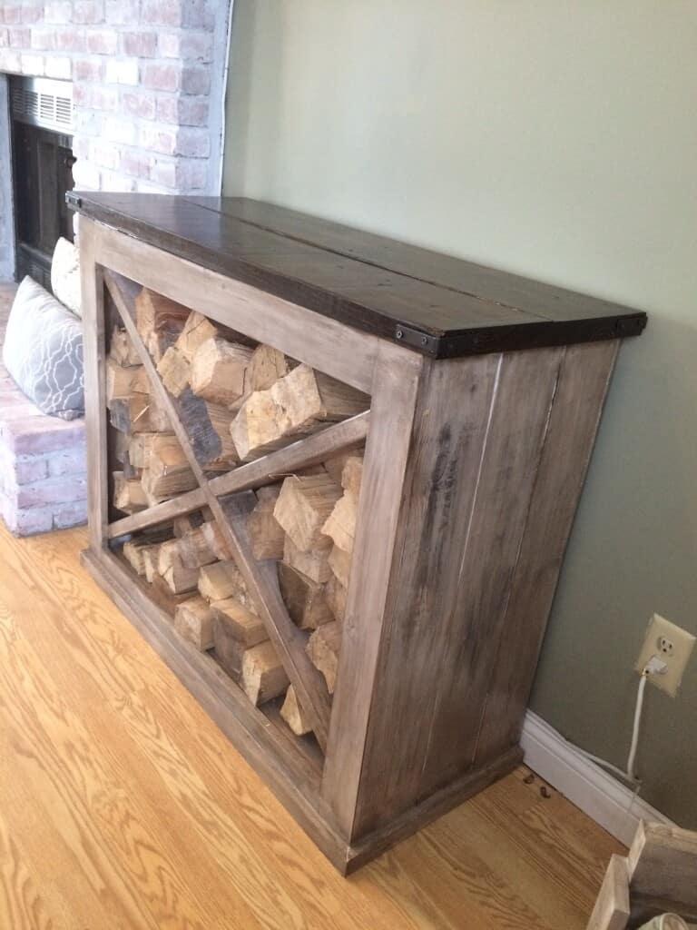 Picture of: 20 Interesting Indoor Firewood Storage Ideas Just Crafting Around