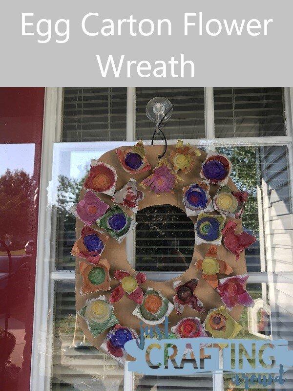 egg carton wreath final project