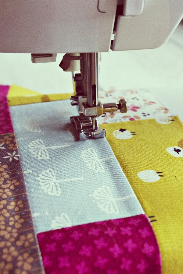quilt and sewing machine