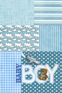 baby boy blue quilt
