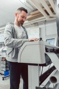sticker printing job on vinyl