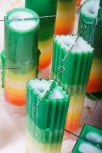 Candle making with mold