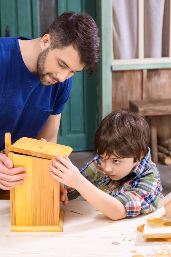 bird house woodworking kit for kid