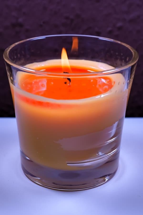 orange candle burning