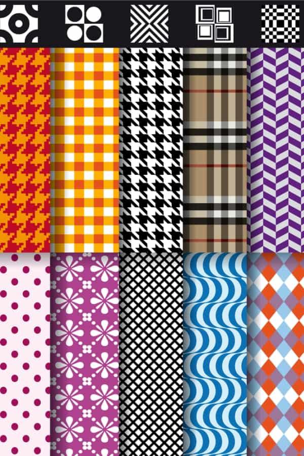 Seamless fashion patterns