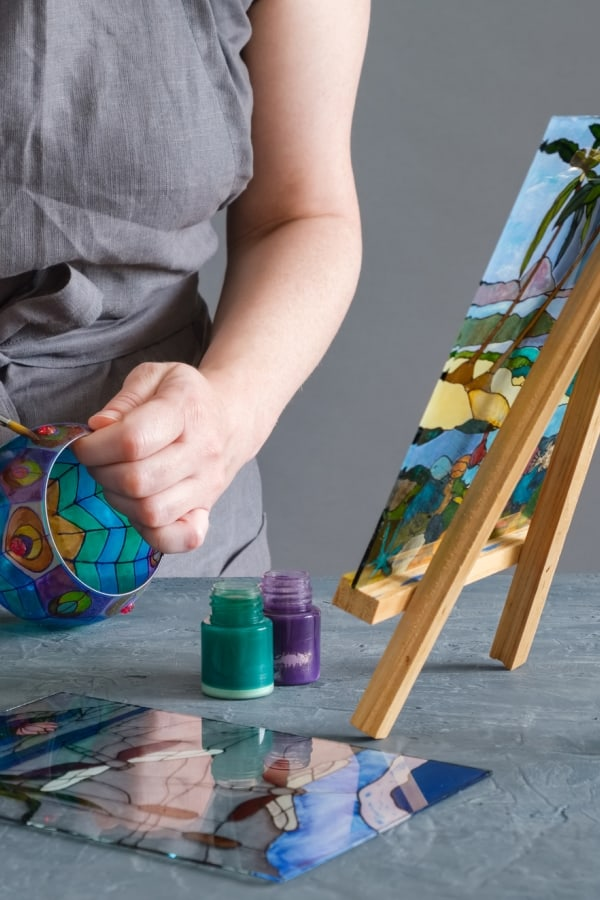Painting with glass kit
