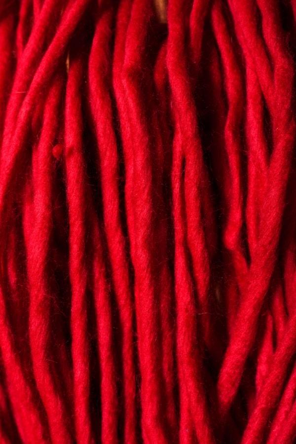 Red acrylic fabric