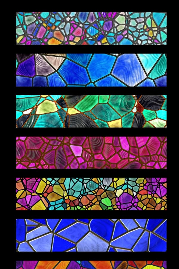 finished stained glass